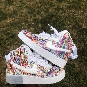 Nike Shoes Custom Air Force One Splatter Af1 High Splattered
